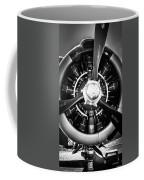 T-28b Vertical Close-up In Bw Coffee Mug by Doug Camara