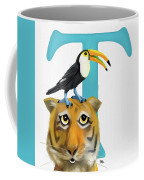 T Is For Two Coffee Mug