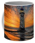 Talacre Beach Lighthouse Sunset Coffee Mug
