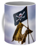 Tattered Sail And Pirate Flag Coffee Mug