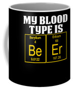 Teachers Assistant Design Blood Type Is Beer Gold Coffee Mug