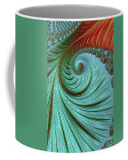Teal And Red Coffee Mug