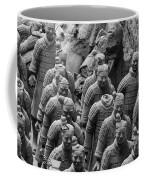 Terra Cotta Warriors In Black And White, Xian, China Coffee Mug