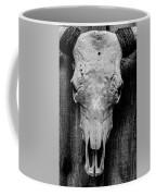 Texas Long Horn Skull Coffee Mug by Garvin Hunter