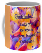 Text Art Gratitude Coffee Mug