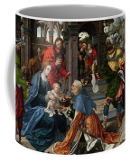 The Adoration Of The Magi With Donor  Coffee Mug
