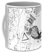 The Austral Constellations Of The Altar, The Southern Triangle And The Peacock Coffee Mug
