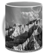 The Badlands In Black And White Coffee Mug