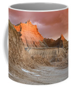 The Badlands With Another Sunrise Coffee Mug