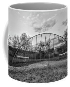 The Baseball Field Black And White Coffee Mug