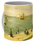 The Beach At Petit-dalles Also Known As On The Beach - 1873 - Virginia Museum Of Fine Arts Usa Coffee Mug