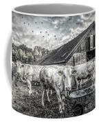 The Cows Came Home Black And White Coffee Mug