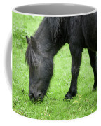 The Grass Is Greener Here. The Black Pony Coffee Mug