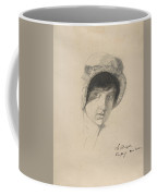 The Head Of A Young Woman Wearing A Bonnet Coffee Mug