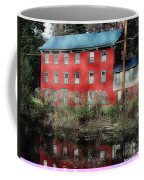 The Red House Along The Autumn Canal Coffee Mug