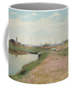 The River And The Harbour At Frederiksvaerk Coffee Mug