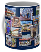The Shops Of Provincetown Cape Cod Massachusetts Collage Pa Coffee Mug