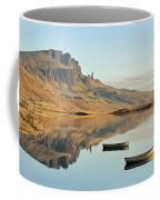 The Storr Reflecting In Loch Fada - Panorama Coffee Mug by Maria Gaellman
