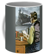Thomas Edison, The Railway Telegraphist  Coffee Mug