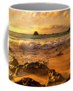 Thoughtful Morning Golden Coastal Paradise  Coffee Mug
