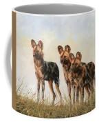 Three African Wild Dogs Coffee Mug