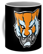 Tiger Head Bitting Beer Can Orange Coffee Mug