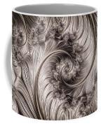 Titanium Double Fractal Spiral Coffee Mug