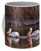 To Pelicans Trolling For Fish Coffee Mug