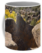 Top Of Rocks Above Canyon In Fall Coffee Mug