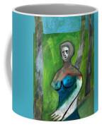 Topless Woman In A Park Coffee Mug