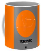 Toronto Orange Subway Map Coffee Mug
