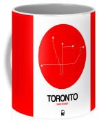 Toronto Red Subway Map Coffee Mug