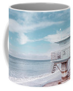 Torrey Pines Beach Lightguard Station Number 5 Coffee Mug by Wendy Fielding
