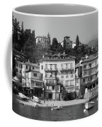 Town In The Shore Of Lake Como In Black And White Coffee Mug