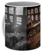 Train - Repair - Third Door On The Right 1942 - Side By Side Coffee Mug