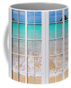 Tropical Paradise Beach Day Windows Coffee Mug