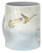 Trumpeter Swans - Don't Land On Me Coffee Mug