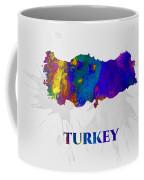 Turkey, Map, Artist Singh Coffee Mug
