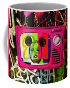 Tv Madonna On Air On Barcelona Walls  Coffee Mug