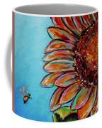 Sunflower With Bee Coffee Mug by Jacqueline Athmann