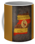Uganda Country Flag Map Coffee Mug