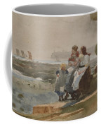 Under The Cliff, Cullercoats , 1881 Coffee Mug