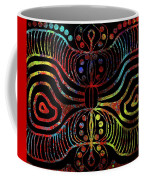 Under The Sea Digital Patterns Of Life Coffee Mug by Joan Stratton