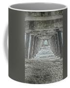 Under The Tybee Island Pier Coffee Mug by Judy Hall-Folde