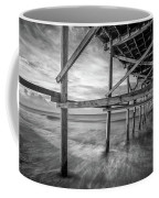 Uner The Pier In Black And White Coffee Mug