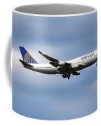 United Airlines Boeing 747-422 Coffee Mug