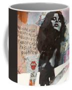 Uschi Obermaier Kommune 1 - Plakative Collage Coffee Mug
