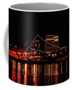 Uss Midway At Night Coffee Mug