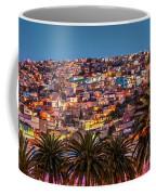 Valparaiso Illuminated At Night Coffee Mug