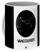 Vancouver Black Subway Map Coffee Mug
